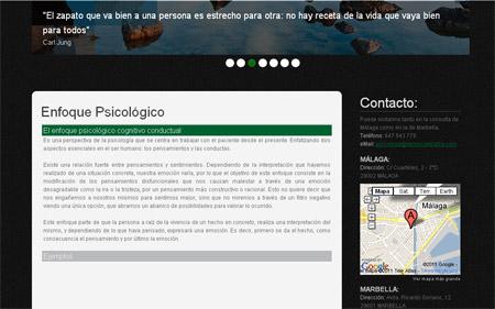 Web de la psicologa de Marbella - Implementación Mootools